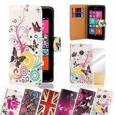 Cuero artificial Libro De Diseño Funda Para Lumia Teléfono + Protector Pantalla