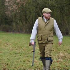 Mens Game Derby Tweed Gilet Hunting Shooting Teflon Coated Waistcoat Bodywarmer