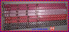 NEW Small Medium Adjust Pet Dog Collar Silver w Red Black Light Pink Bright Pink