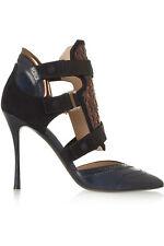 NICHOLAS KIRKWOOD x Peter Pilotto Navy Oxford Pumps Shoes $1,190 NEW