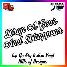 INGRANAGGIO DROP A e sparisci Decalcomania Sticker 19x10cm Window Loud Autoscooter Garage