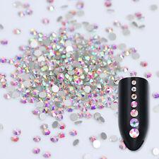 1440Stk Kristall Nagel Glitzersteine Straßsteine Flat Back 3D Nail Decoration