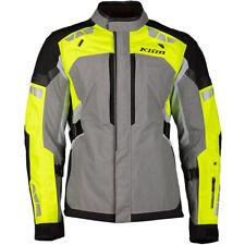 Klim Latitude GoreTex Waterproof Textile Motorcycle Motorbike Jacket Grey Hi-Viz