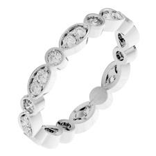 Bezel Set 925 Solid Sterling Silver Full Eternity Wedding Ring