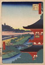 "Utagawa Ando Hiroshige : ""Zojoji Pagoda and Akabane"" (1857) — Fine Art Print"