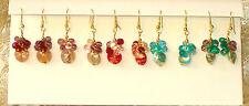 MURANO Glass Earrings Festive Gold Plate Gift Boxed Guaranteed ITALIAN MADE