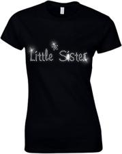 Little Sister CRISTALLO DONNA T Shirt - STRASS tutte le taglie