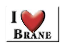 SOUVENIR UK - ENGLAND FRIDGE MAGNET UNITED KINGDOM I LOVE BRANE (CORNWALL)