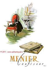 PUBLICITE ANCIENNE DE 1949 CHOCOLAT MENIER SIGNE DARGOUGE FRENCH CHOCOLATE AD