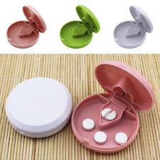 Pill Cutter Splitter Divider Half Storage Compartment Box Medicine Tablet Holder
