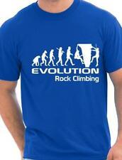 Evolution Of Rock Climbing  Funny Adult Mens T-Shirt Birthday Gift  Size S-XXL