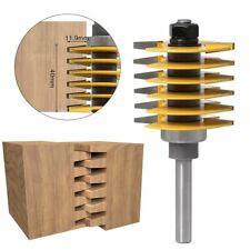 Shank Router Bit Tenon Cutter 2Teeth Adjustable Finger Joint Industrial Grade