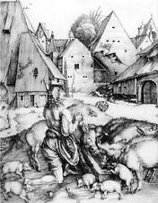 "ALBRECHT DURER ""Prodigal Son"" farmyard engraving CANVAS OR PAPER various SIZES"