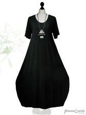 Poco Layered Look Basic Balloon-Dress Black L XL XXL XXXL 44 46 48 50 52 54 56