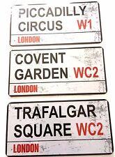 LONDON METAL LONDON STREET SIGN PLATE TRAFALGAR SQ, Piccadilly circus,COVENT GDN