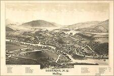 Poster, Many Sizes; Map Of Luzerne New York & Hadley 1888