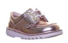 Kickers Kick Lo Patent Infants Shoes Gold Size 5 - 12