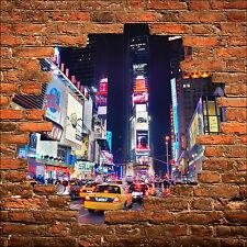 Sticker mural trompe l'oeil New York taxi réf 813