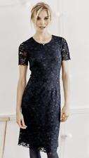 THE WHITE COMPANY Navy Short Sleeve Lace Dress, Size 8, 12 & 14, BNWT £129