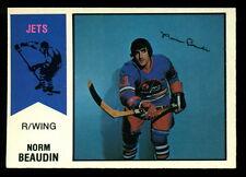 1974 75 OPC O PEE CHEE  WHA #11 NORM BEAUDIN NM WINNIPEG JETS HOCKEY CARD