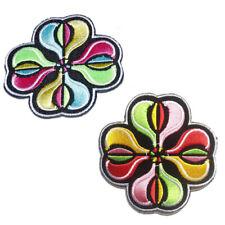 Toppe termoadesive - fiore - diversi colori selezionabili - 7.3 x 7.3cm - Patch