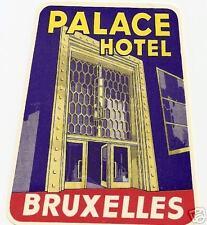 luggage label etichetta palace hotel bruxelles strano