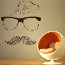 Wall Sticker Moustache Design PVC Vinyl Removable Home Décor Decal
