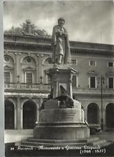 CARTOLINA DI RECANATI MONUMENTO A GIACOMO LEOPARDI