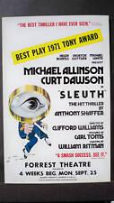 SLEUTH Window Card ALLINSON / DAWSON Tour 1972