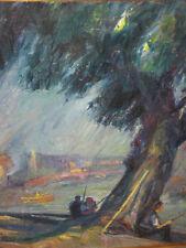DORNBUSCH Friedrich, *1879 Angler unter Baum am See