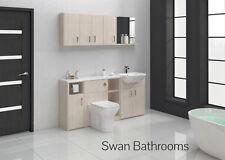 Blanc salle de bains meubles équipée Avola 1700mm avec les unités de mur
