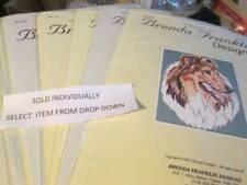 Brenda Franklin Designs Dog Cross Stitch CHART-DC-DF Series- Breeds Starting Wit