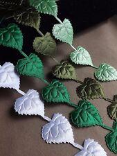 Large Leaves Vine Garlands Ribbon decor applique Trim Bridal card sew on