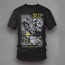 Isle of man course imprimé t shirt