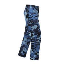 Blue Camo BDU Cargo Pants Titans KC Royals Colts Panthers Giants UNC LA Dodgers