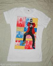 Girls Tee Shirt GANGNAM STYLE Short Sleeve WHITE M 7-8  L 10-12  XL 14-16