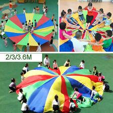 Enfant Jouet Rainbow Arc-en-ciel Parachute Parapluie Jeu Formation Spor 2/3/3.6m