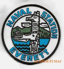 US NAVAL STATION NS EVERETT WA USS PATCH US NAVY USS WOW
