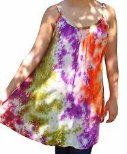 FAIR TRADE RAYON TIE DYE LADIES TUNIC TOP SUN DRESS ONE SIZE 10 12 14 16 18 20