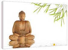 Zen Buddha Lotus Meditation Canvas Wall Art Print