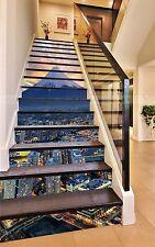 3D City Mountain 414 Risers Decoration Photo Mural Vinyl Decal Wallpaper CA
