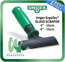 Unger Ergo Tec Glass Scraper 10cm 15cm ErgoTec Window Cleaning Remove Glue Dirt
