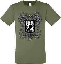 T shirt dans olivton avec un motard-, Chopper - & Old schoolmotiv modèle pow mia Nev