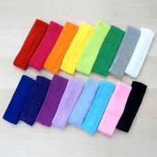 Women/Men Flexible Cotton Sport Sweatband Headband For Running/Jogging/Yoga/Gym