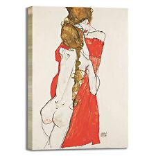 Schiele madre e figlia design quadro stampa tela dipinto telaio arredo casa