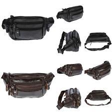 Leder Bauchtasche  für Herren Damen Schwarz Braun Waistbag Hüfttasche Waist Bag