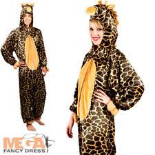 GIRAFFE Tutina Adulti Costume Animale Safari Libro Settimana Uomo Donna Costume