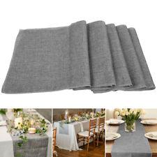 Nature Linen Vintage Jute Burlap Fabric Table Runner Wedding Event Party Decor