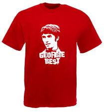 George Best Maglietta GEORGIE Man United Red Devils FELPA CON CAPPUCCIO CALCIO MANCHESTER