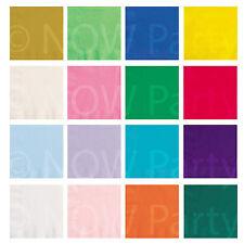 33 cm serviettes en papier plaine couleurs anniversaire barbecue cuisine vaisselle 20 ou 50 ans